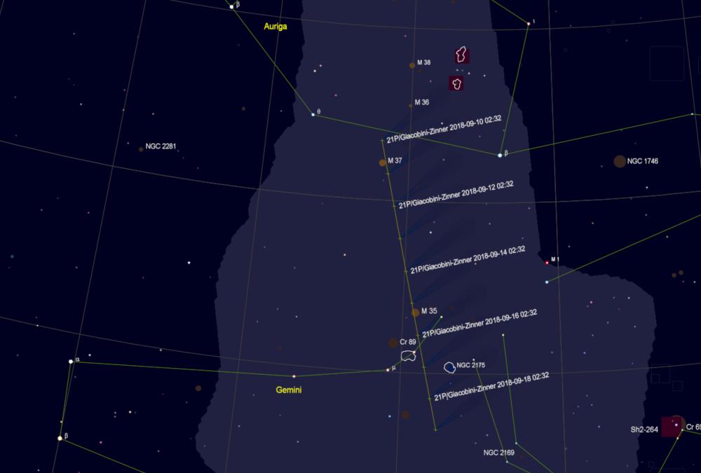 21P Finder chart from Cartes du Ciel