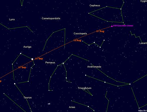Comet 21P/Giacobini-Zinner brightening