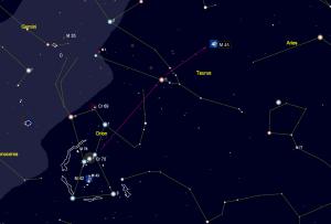 M45 finder chart