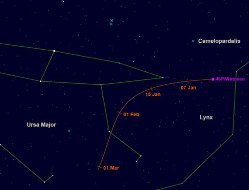 UPDATED: Comet 46P/Wirtanen in December