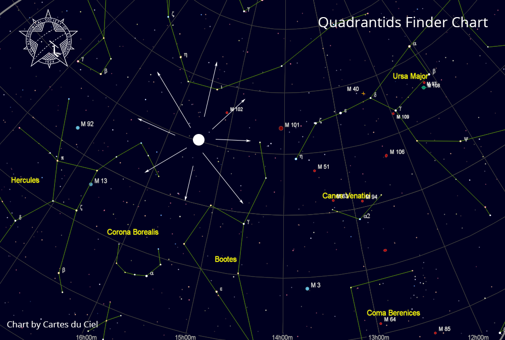 Quadrantids finder chart