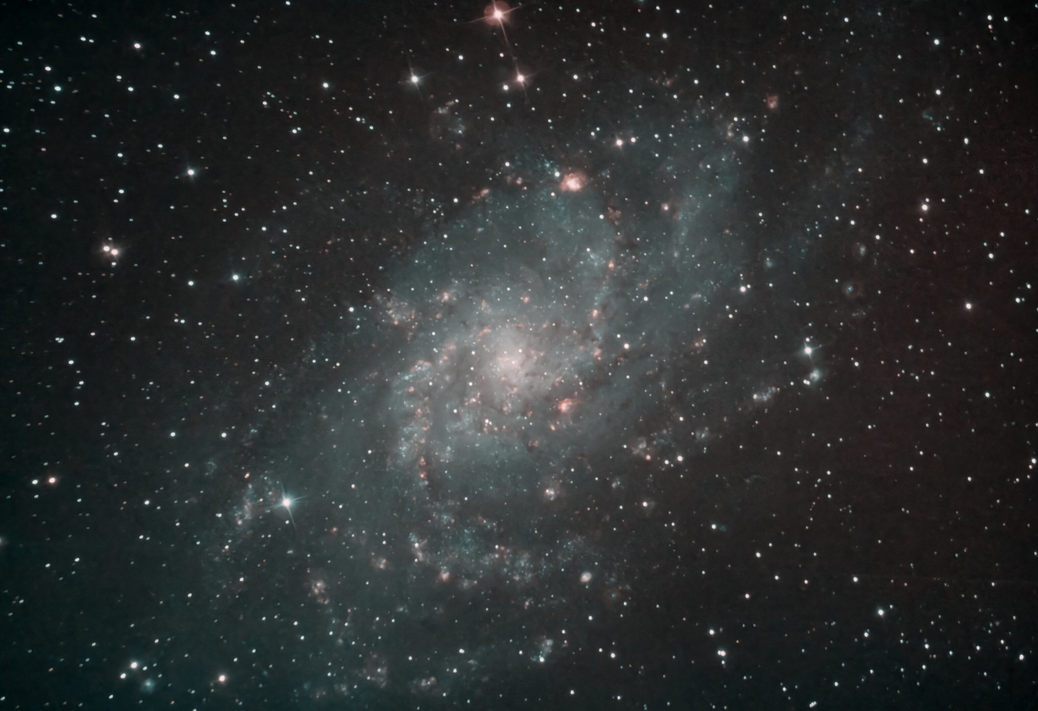 M33 Ian Smith Skywatcher 200p, NEQ6 mount, Altair Triband filter, Baader MPCC M3 coma corrector, ASI294MC Pro