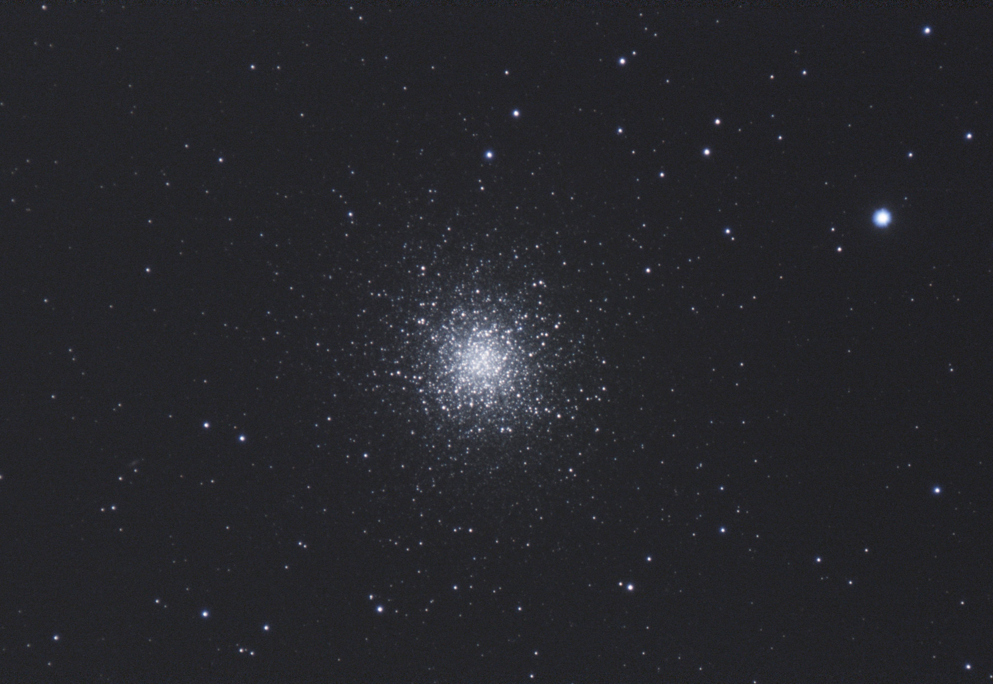 """M13 Glob. Cluster 140321 Herc. (1 of 1) Nigel Goodman. An old favourite ! 240s at 121/30 With 2x 2"""" barlow."""