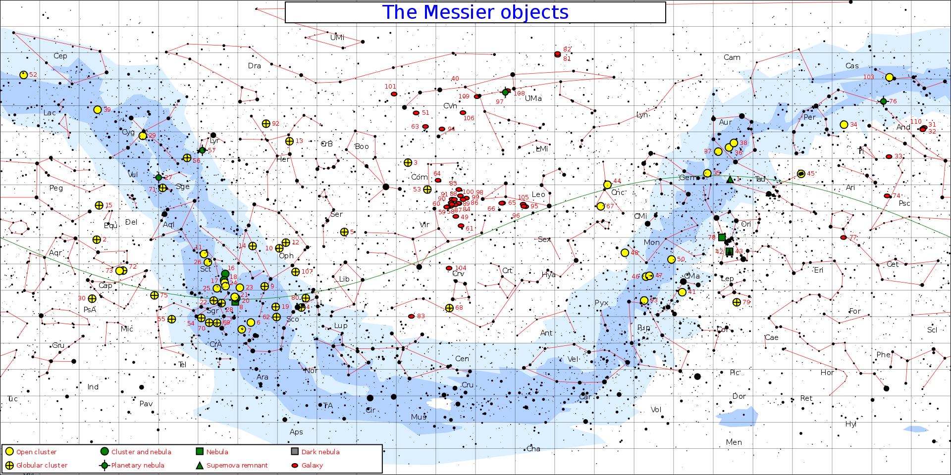 Messier Star Chart by Jim Cornmell