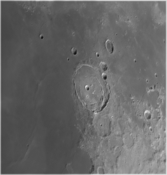 L20 Posidonius - Floor-fractured crater (Mike McGovern)