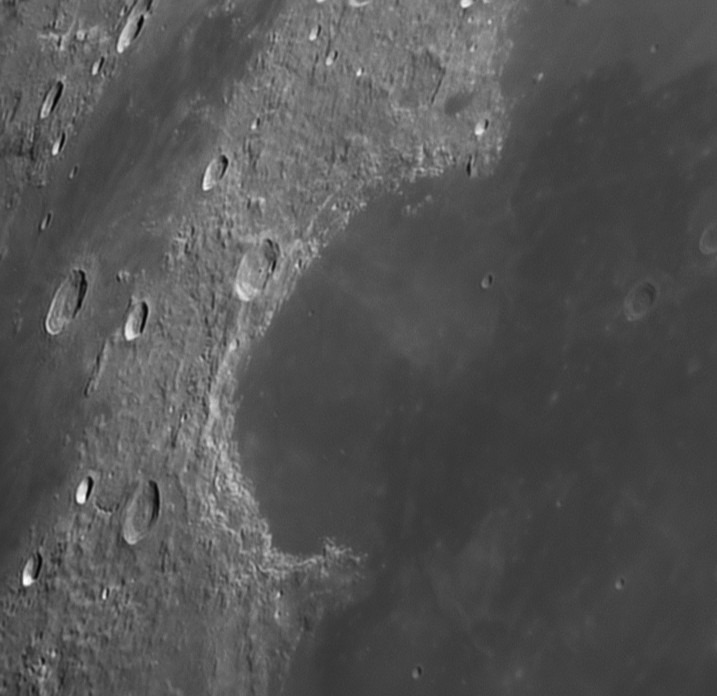 L14 Sinus Iridum Very large crater with missing rim (Mike McGovern)