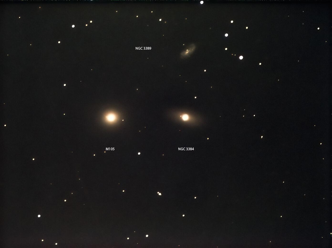M105 Andrew Farrow 16.03.21 30secs exps for 1120secs total Lots of light pollution ES127mm APO, Atik Infinity