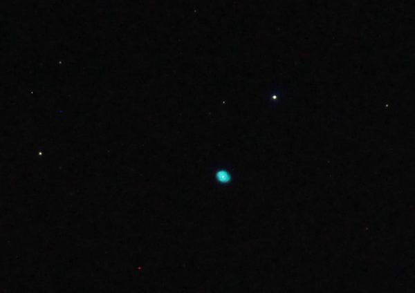 "C6 NGC 6543 Cat's Eye Nebula Jonathan Anderson 4"" f10 achro on HEQ5 Pro Canon 700d (umod) @ISO 1600"