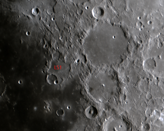 L51 Davy crater chain Result of comet-fragment impacts (Mark Phillips)
