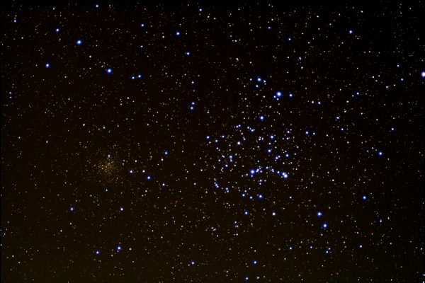 """M35 Shoebuckle Cluster (Jonathan Anderson) 4"""" f10 achro on HEQ5 Pro Canon 700d (umod) @ISO 1600 60x40sec + darks,flats etc. Processed DSS & GIMP"""