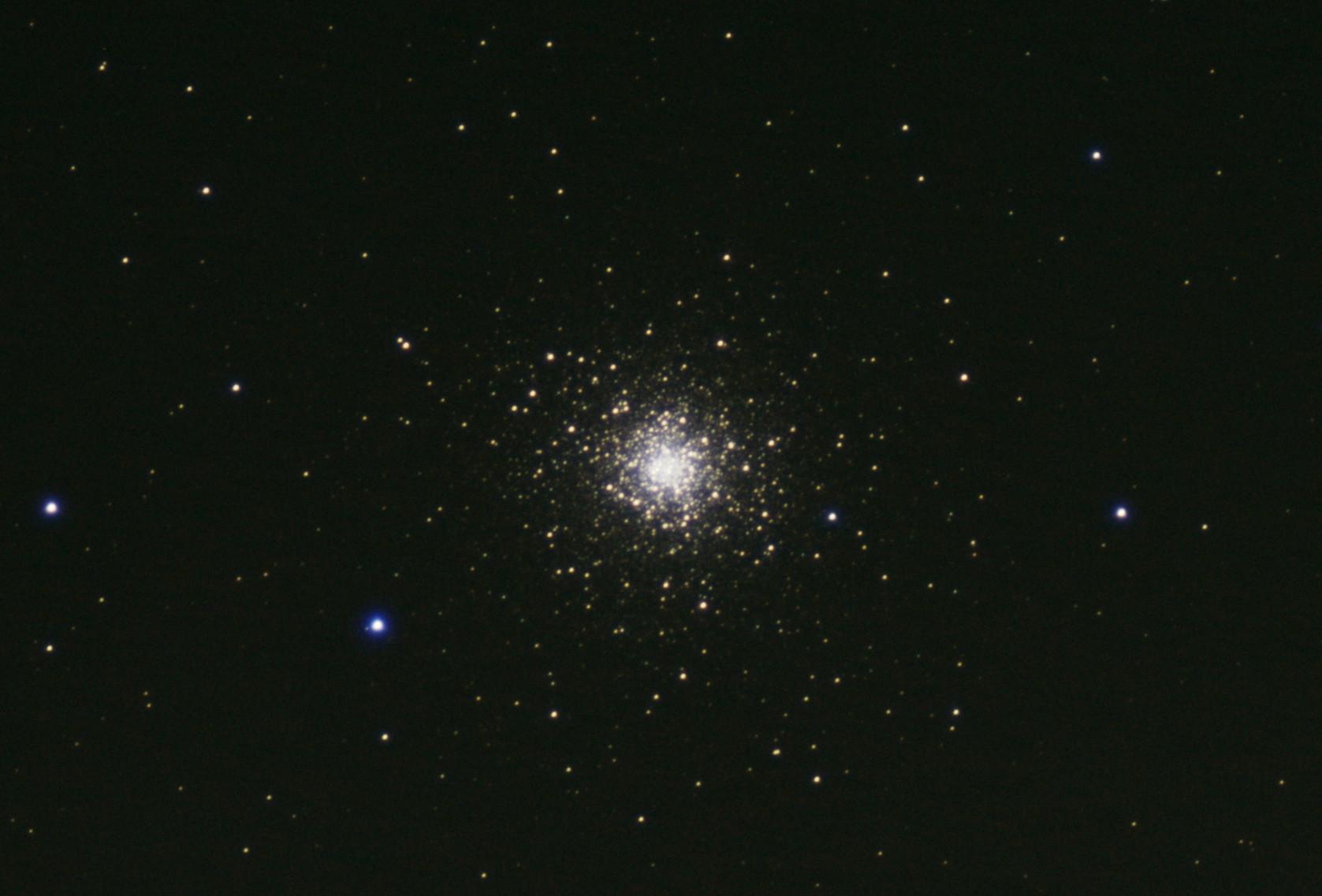"M92 Hercules Globular Cluster (Jonathan Anderson) 4"" f10 achro on HEQ5 Pro Canon 700d (umod) @ISO 1600 60x40sec + darks,flats etc. Processed DSS & GIMP"