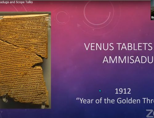 Venus Tablets of Ammisaduqa and Scope Talks.