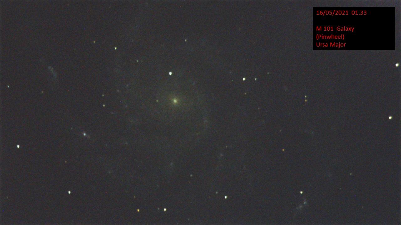 M 101 Galaxy (Pinwheel) Ursa Major (Hugh C. Somerville) Sat 15th May 2021