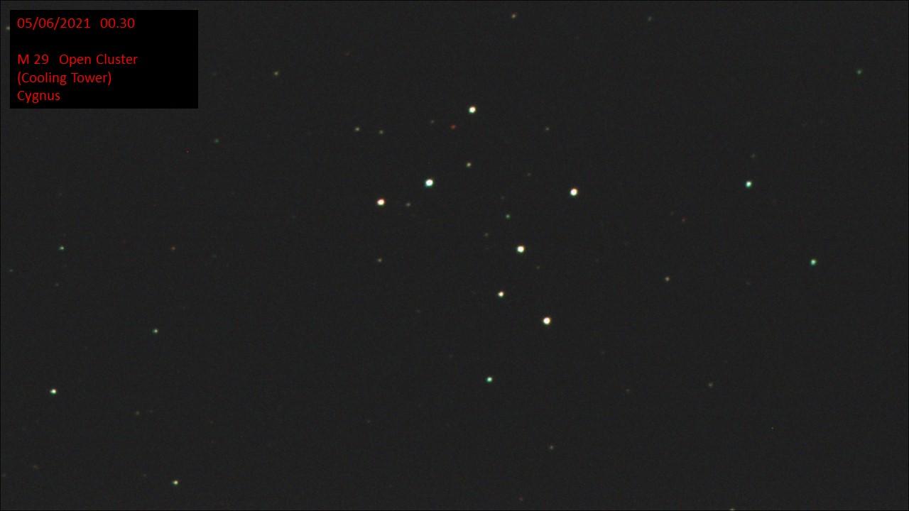 M 29 Open Cluster (Cooling Tower) Cygnus (Hugh C. Somerville) Fri 4th Jun 2021