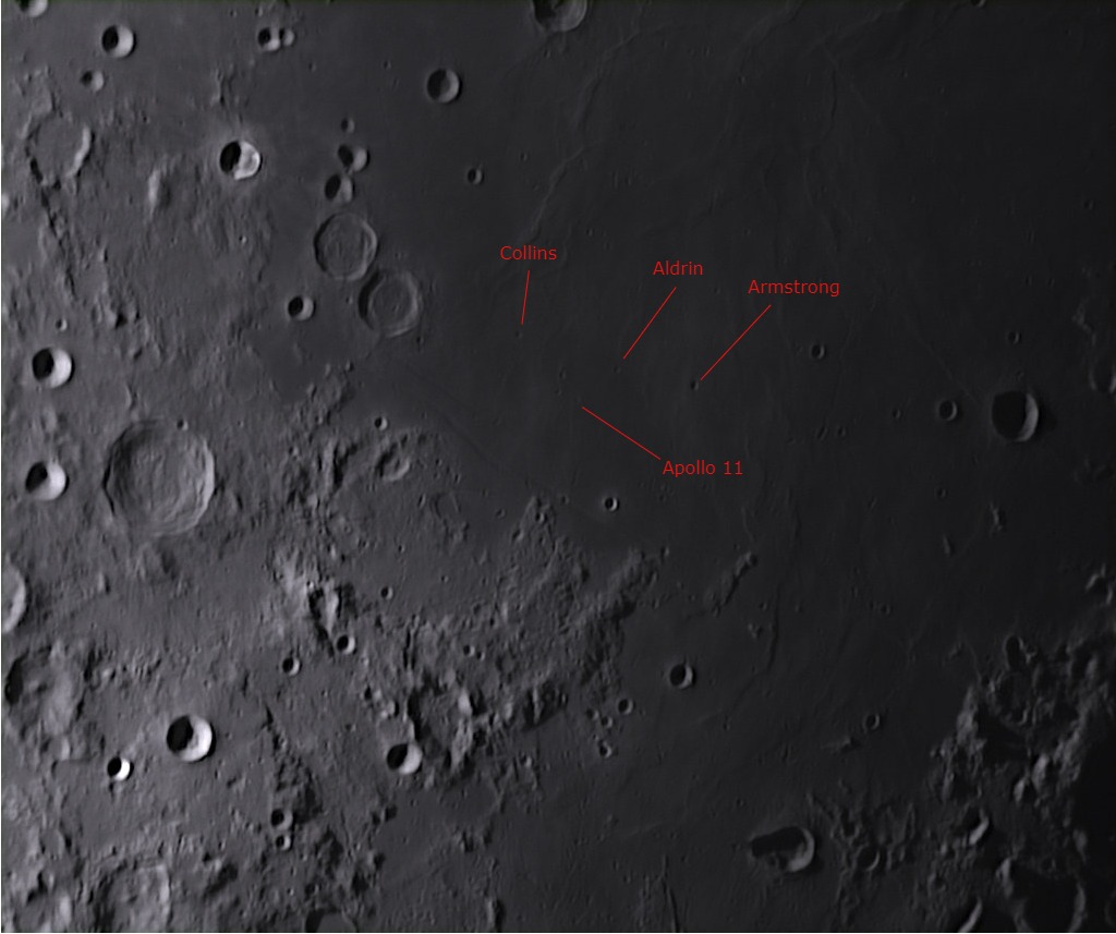 L90 Armstrong, Aldrin and Collins Small craters near the Apollo 11 landing site (Radim Stano)