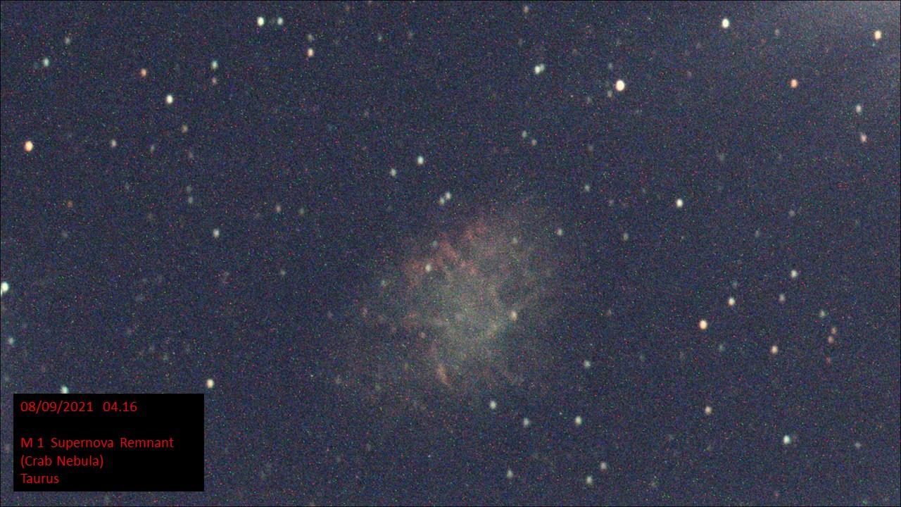 M 1 Supernova Remnant (Crab Nebula) Taurus (Hugh C. Somerville) Tue 7th Sep 2021