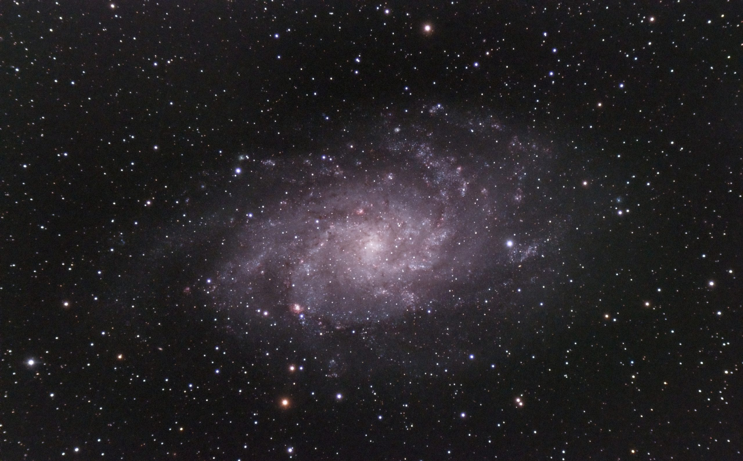M33 Triangulum Galaxy ( Nigel Goodman) 070921 102ED 294C LProMax 391g 20of x33 (1 of 1)-DeNoiseAI-standard M33 on a very dark, clear but humid night Great deal of trouble with guiding, possibly because of dew. Only 33 stacked out of 76. 150s at 391 gain 20 offset -15C. 105ED, 294C and LProMax filter.